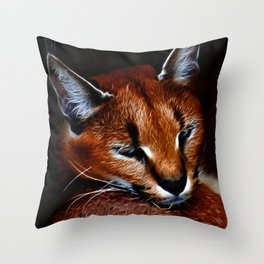 Karakul wildcat Throw Pillow