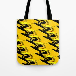 URBAN STREET CAMO YELLOW AND BLACK OLIVE GREEN DESIGN Tote Bag