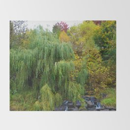 Weeping Willow Tree in Revelstoke BC, Canada Throw Blanket