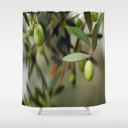 Olives On A Branch Shower Curtain