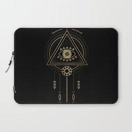 Mandala Tribal Eye Copper Bronze Gold Laptop Sleeve