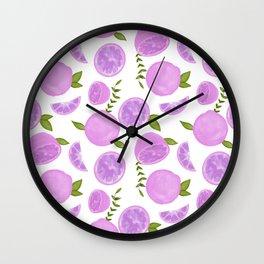 Grapefruit Pink Palette Wall Clock