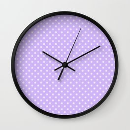 Purple background with polka dot Wall Clock