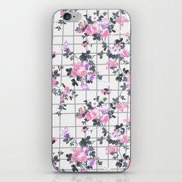 Elegant blush pink violet gray floral geometrical iPhone Skin