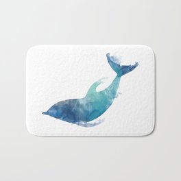 Watercolor playing Dolphin Bath Mat
