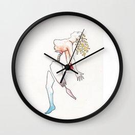 Skydancer, female nude figure, NYC artist Wall Clock