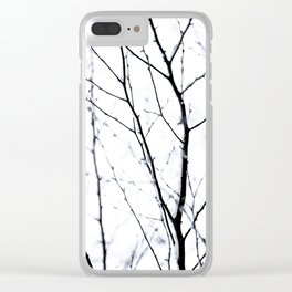Winter Silhouettes 3 Clear iPhone Case