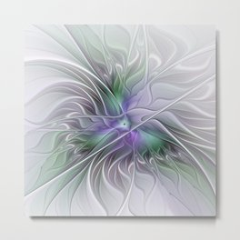 Abstract Floral Fractal Art Metal Print
