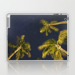 Palm trees at night against starry sky Laptop & iPad Skin