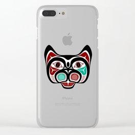 Northwest Pacific coast Haida Kitty Clear iPhone Case