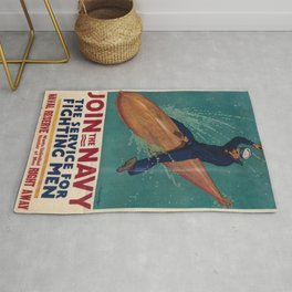 Vintage poster - Join the Navy Rug