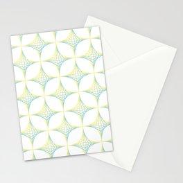 Striped Stars Pattern Stationery Cards