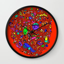 Doodle These! with Colour! Wall Clock