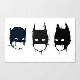 Three Batmen Canvas Print
