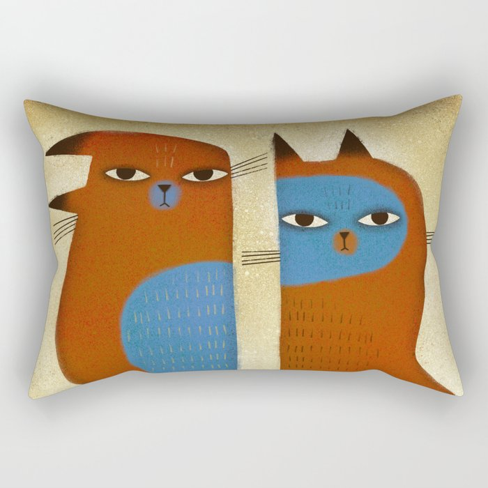 GROUCHY SIBLINGS Rectangular Pillow