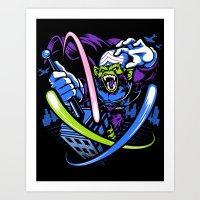 jojo Art Prints featuring King Jojo by harebrained