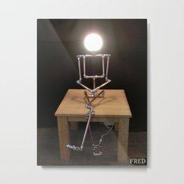 Lamp Girl - FredPereiraStudios_Page_13 Metal Print
