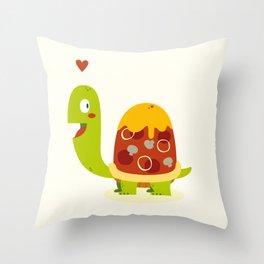 Pizza turtle Throw Pillow