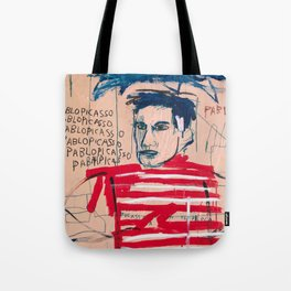 Picasso after Basquiat Tote Bag