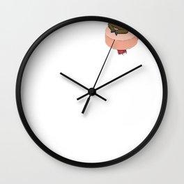 Tiny Rick On a Plumbus Wall Clock
