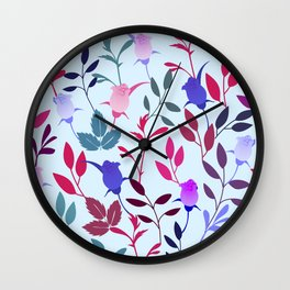 Flower Pattern III Wall Clock