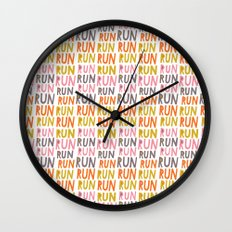 Pattern Project #19 / Run Run Run Wall Clock