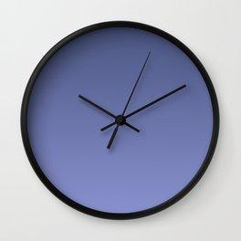 Dusky blue gradient. Ombre. Wall Clock