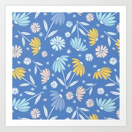 Garden Flowers - Style G Art Print