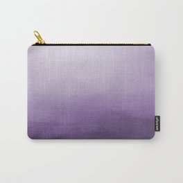 Inspired by Pantone Chive Blossom Purple 18-3634 Watercolor Abstract Art Carry-All Pouch