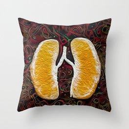 Orange revolve Throw Pillow