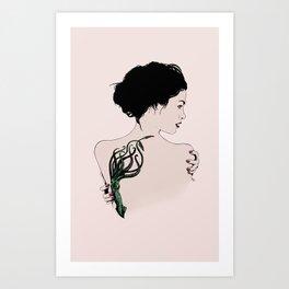 Tattooed Lady Art Print