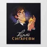 cigarettes Canvas Prints featuring Smoke Cigarettes by grrrenadine