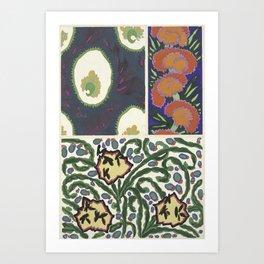 cool retro pattern Art Print