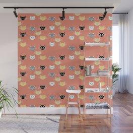 Kitties - Coral Wall Mural