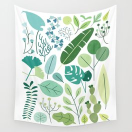 Botanical Chart Wall Tapestry