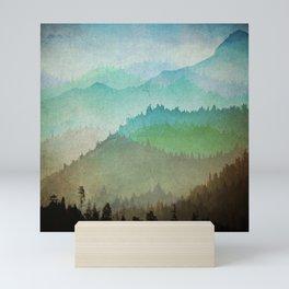 Watercolor Hills Mini Art Print