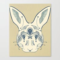 hare Canvas Prints featuring Hare by Sloni