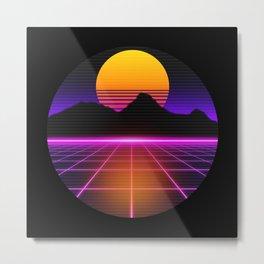 80s Outrun Vaporwave Synthwave Retro Style Metal Print