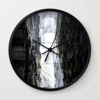pivot Wall Clocks featuring Side street sway pivot walk link pan treatment. by Juan Antonio Zamarripa [Esqueda]