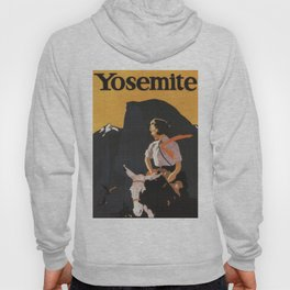 Retro Yosemite Travel Poster Hoody