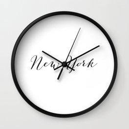 New York Print Wall Clock