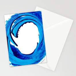 Pure Water 312 - Blue Abstract Art By Sharon Cummings Stationery Cards