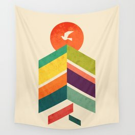 Lingering Mountains Wall Tapestry