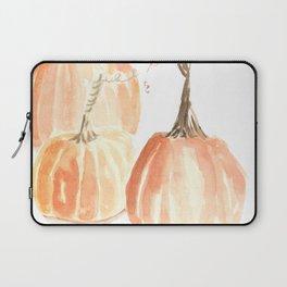 Twisted Stem Pumpkins in Watercolor Laptop Sleeve