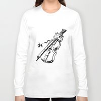 violin Long Sleeve T-shirts featuring Violin by Azure Cricket