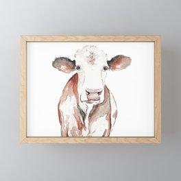 Cow Watercolor Framed Mini Art Print