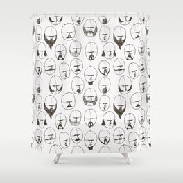 Moustaches and Beards Shower Curtain
