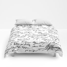 Famous Autographs of the late 1800s Comforters