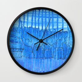 Glacial Cavern Wall Clock