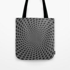 Spiral Rays in Monochrome Tote Bag